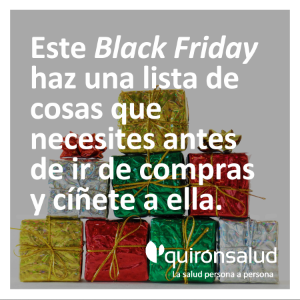 Consejo para el black friday