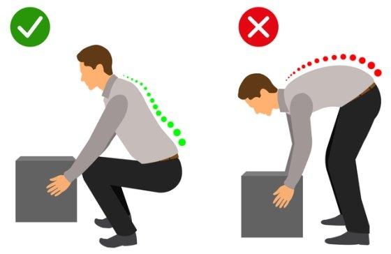Cómo levantar peso correctamente
